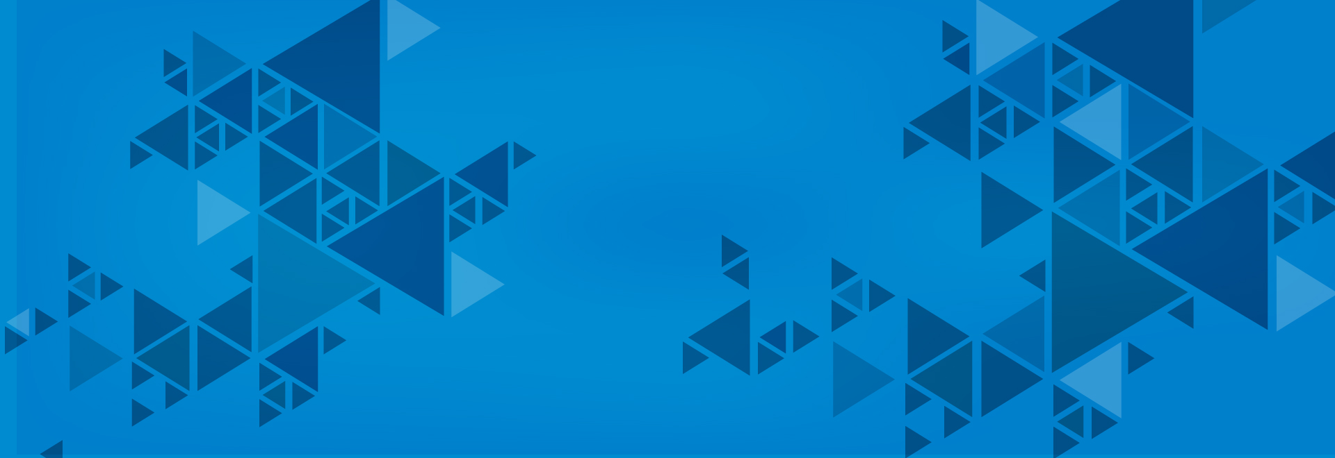 blog banner in a blue background with blue triangular design