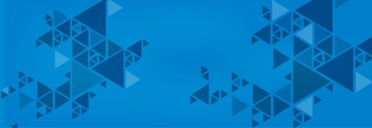 Blog banner triangular shapes blue background