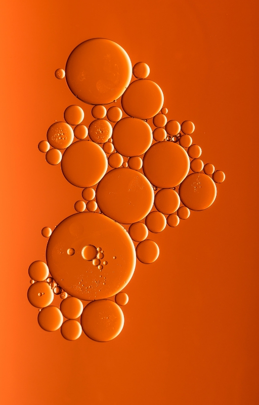 orange blog banner with set of bubbles in the middle