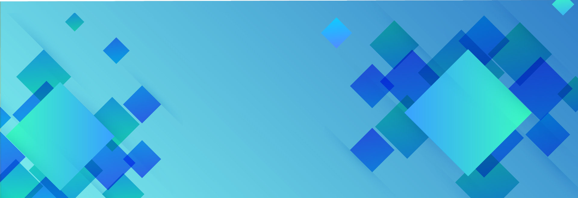 Blue blog banner with quadratic design