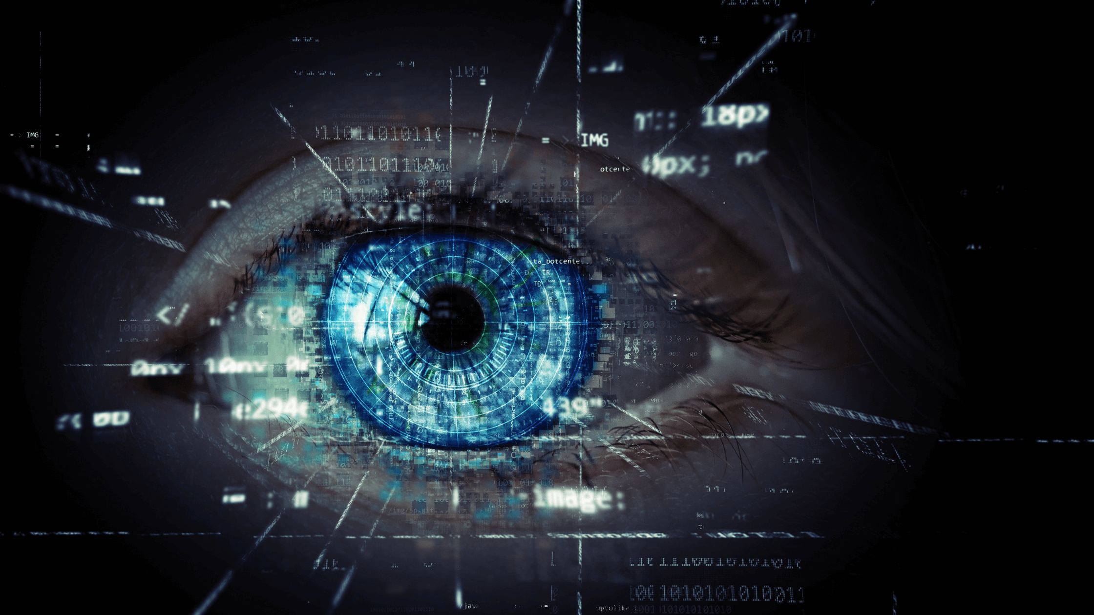 There is a human eye at the center of technology watching over it.