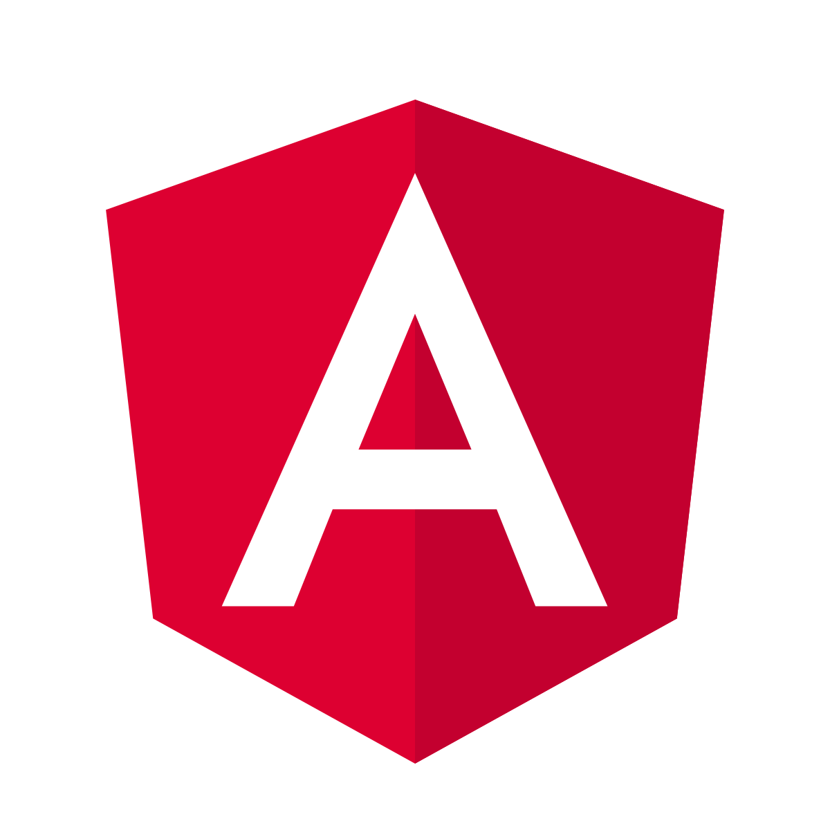 logo of angular as a red and white A