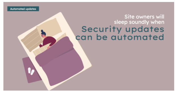Illustration with a rectangle describing security status in Drupal's Automatic Updates