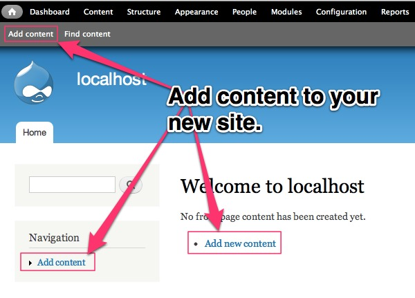 Adding and editing the content is very easy in Drupal website