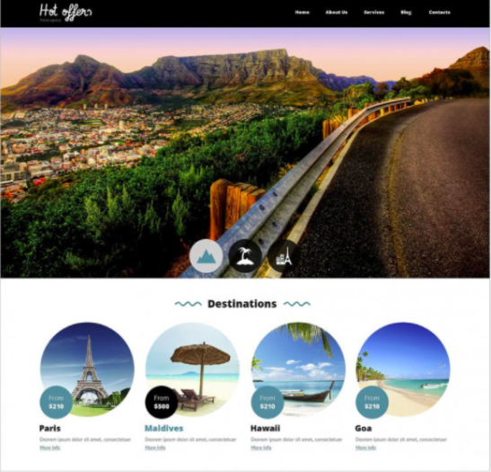 Travel Drupal Template premium theme by drupal