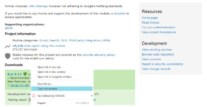 drupal module user guide simplexml sitemap opensense labs