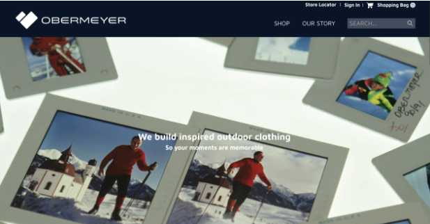 Homepage of Obermeyer