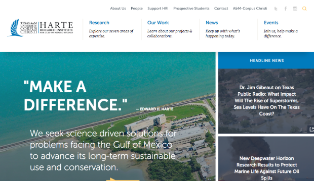 Homepage of Harte Research Institute