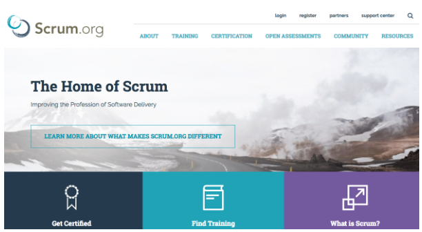 Homepage of Scrum