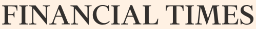 Logo of Financial Times with yellowish background