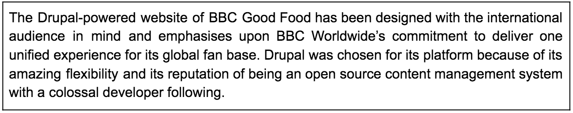 Description about BBC GoodFood website in a box