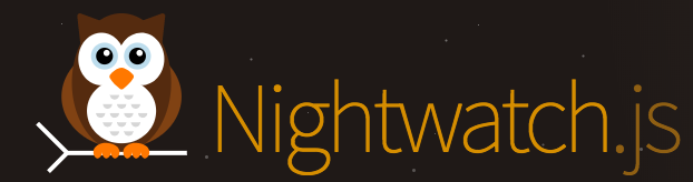 Logo of nightwatchjs with an icon representing an owl