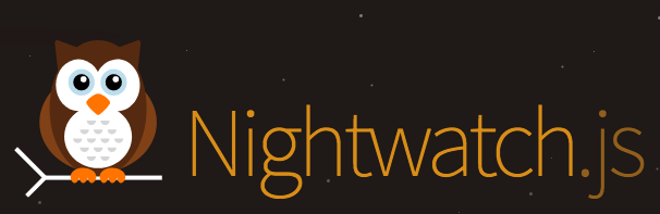 An owl as the logo with 'nightwatch.js' text on right