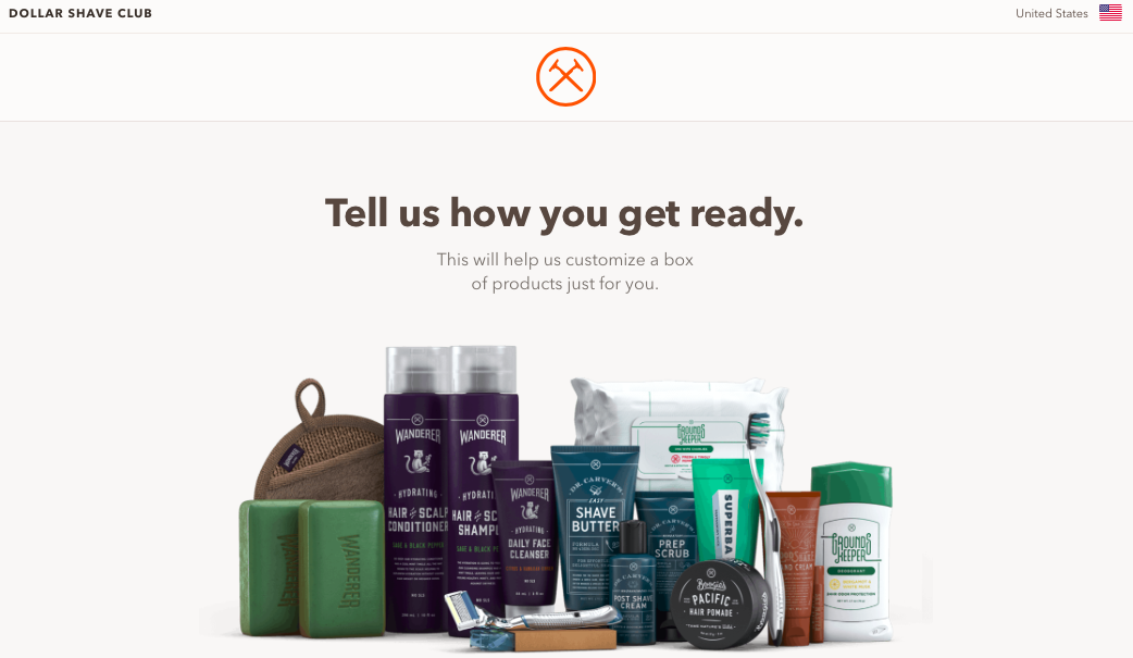 e-commerce website homepage showing cream, shampoo, oil products