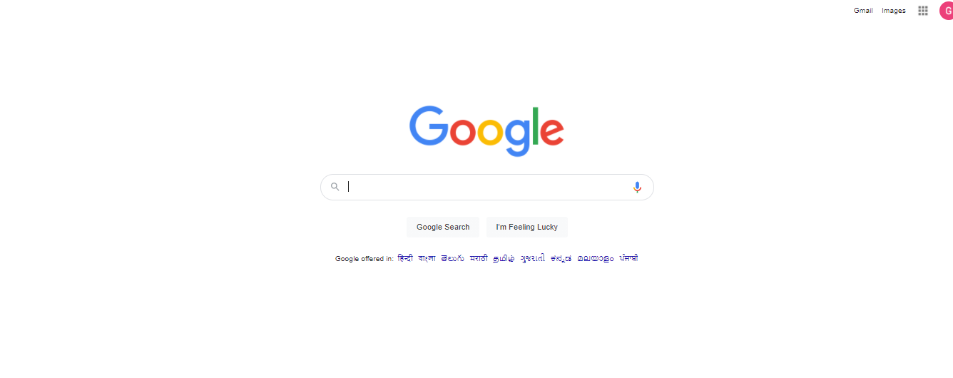 Google's search page is shown.