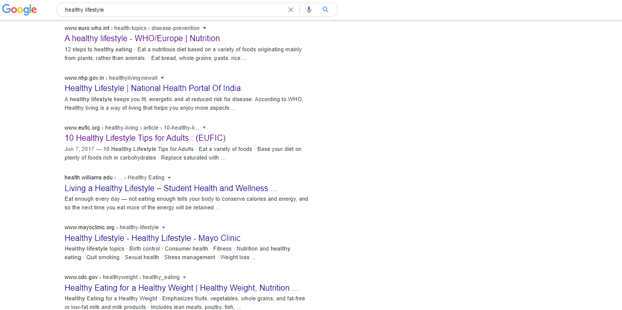 The results page is shown after a Google search.