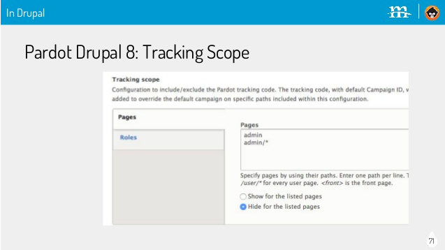 Pardot in action in Drupal