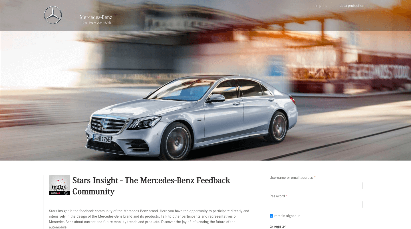 Star Insights community by Mercedes Benz is built on Drupal