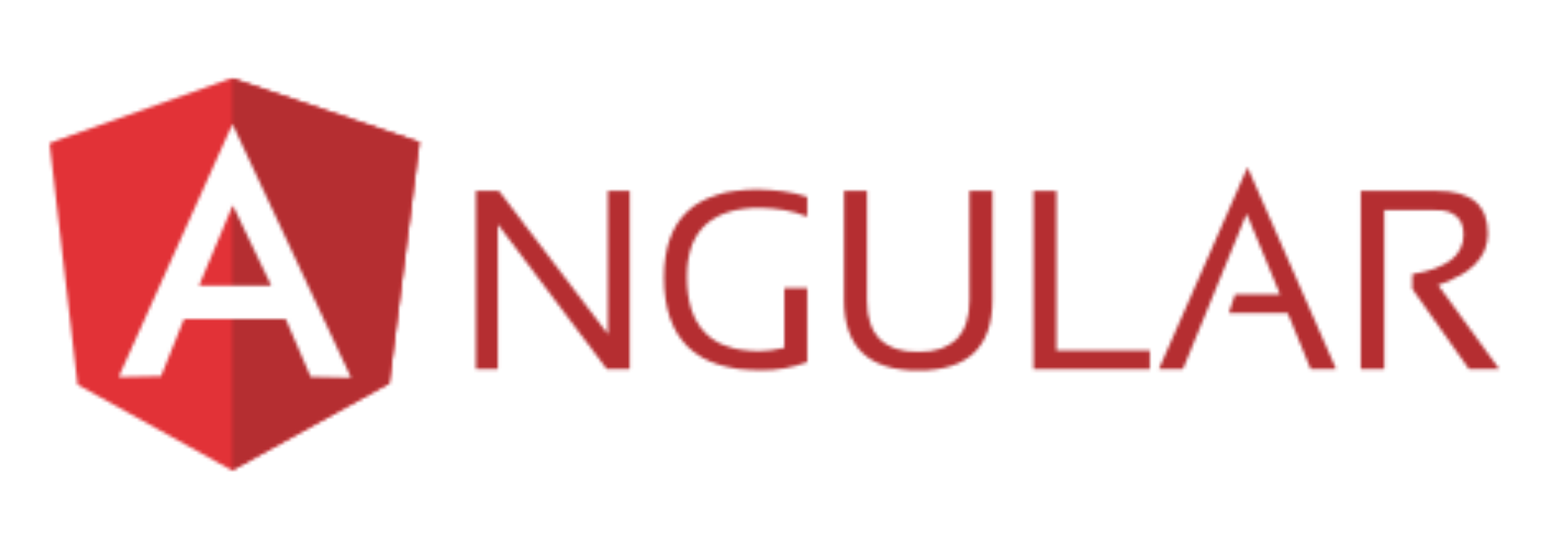 The logo of Angular is shown.