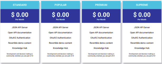 illustartion image showing the pricing plans written in back text in a white background