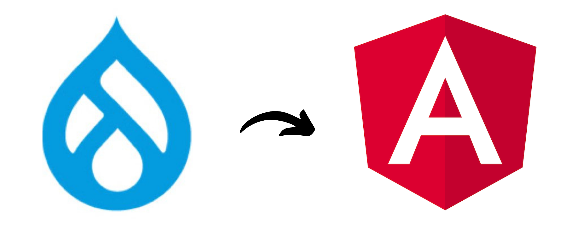 The Drupal and Angular logos can be seen together.