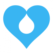 Blue coloured heart shaped icon that represents the logo of diversity and inclusion team of Drupal
