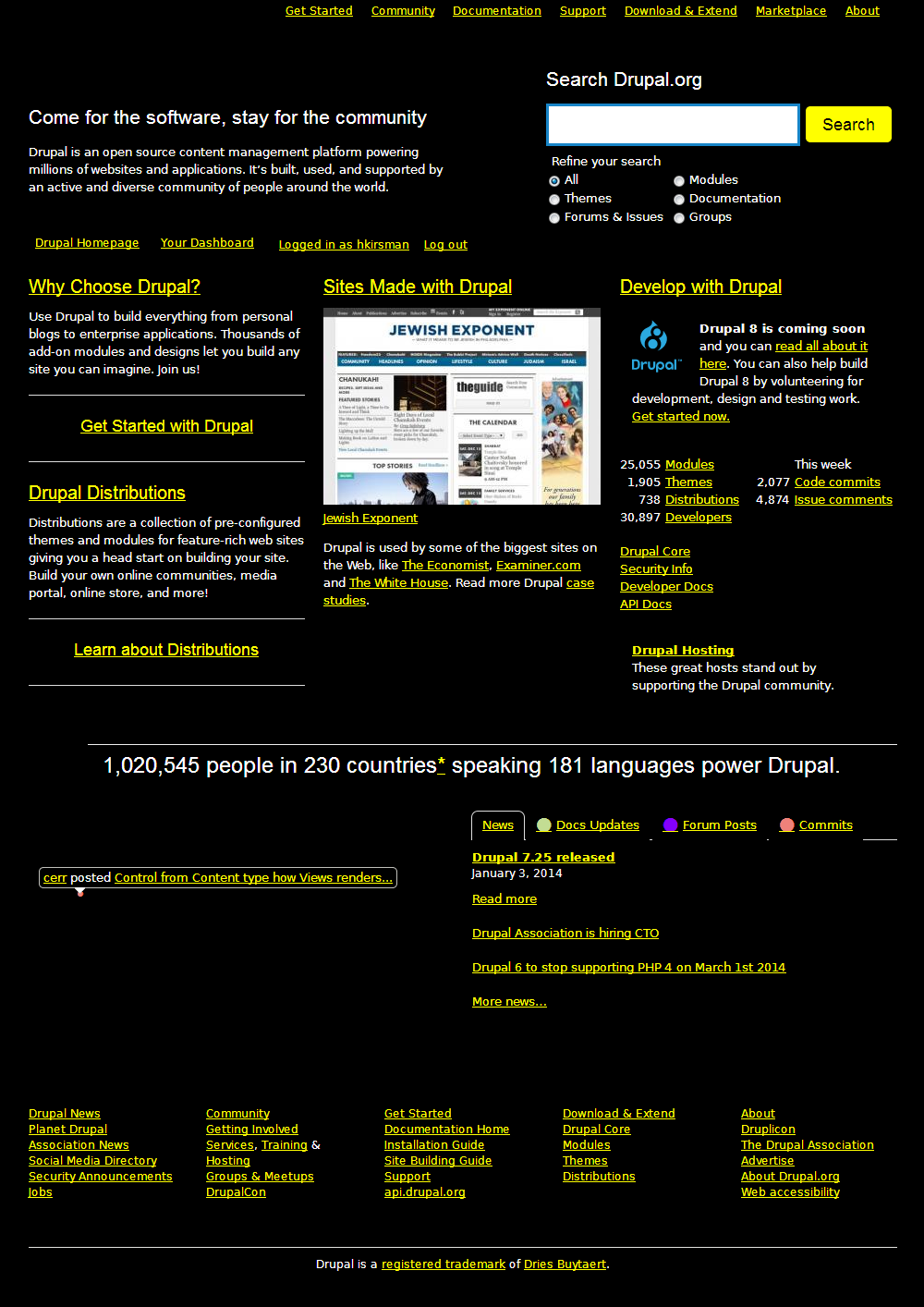 an example of Drupal high contrast