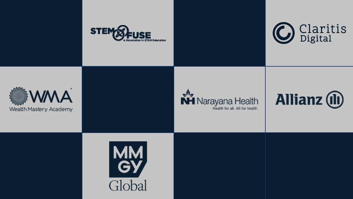 There are different logos of OSL clients in various rectangular blocks.