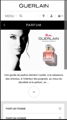 mobile responsiveness example of Guerlain