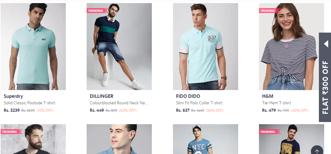 myntra shopping page