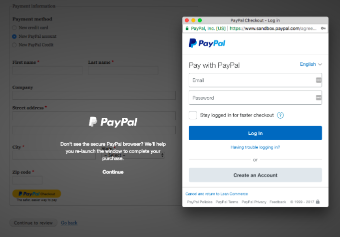 screebshot of Paypal supported by Drupal
