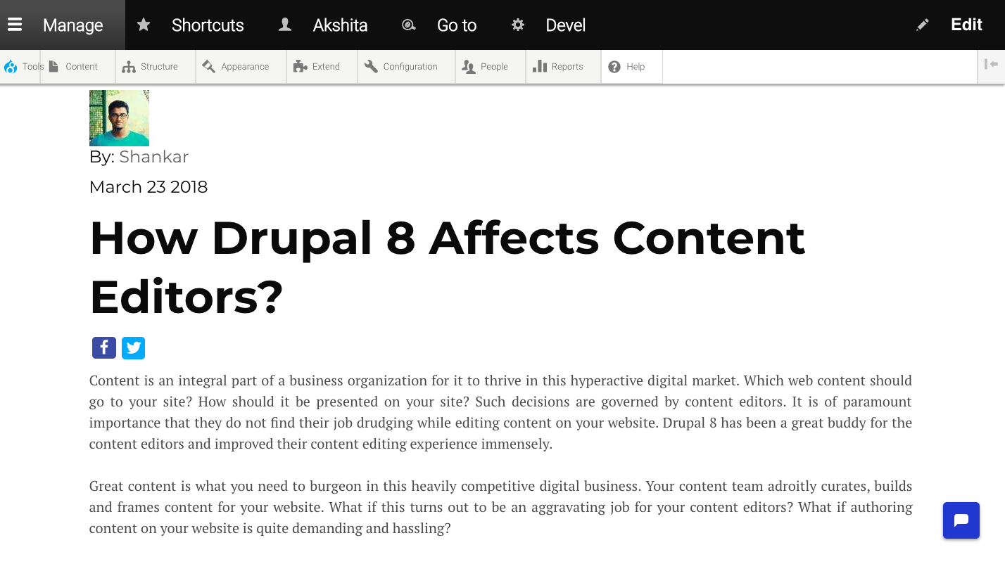 preview mode in Drupal editing