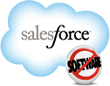 a cloud with salesforce written on it