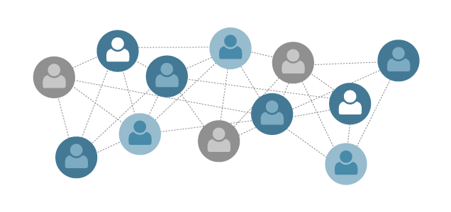Different users connected via network