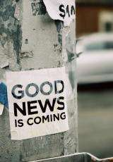 blog image with poster reading 'good news is coming'