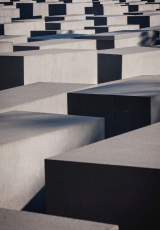 Grey cube maze photography