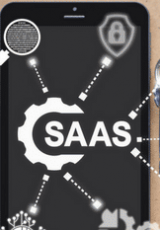 Saas written with partial gear icon