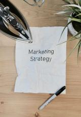 'marketing strategy' written on a piece of paper